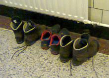 Schoenen uit tijdens het TBW!