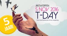 Veel trotse mensen tijdens T-Day in Antwerpen
